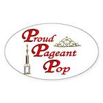 Pageant Pop Oval Sticker