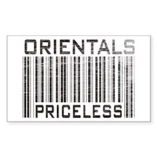 Orientals Priceless Rectangle Decal