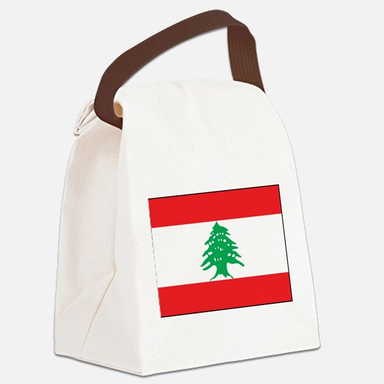 Lebanon - National Flag - Current Canvas Lunch Bag