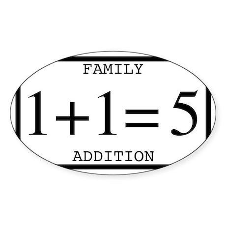 Family Addition Rectangular Bumper Sticker 5 Stick