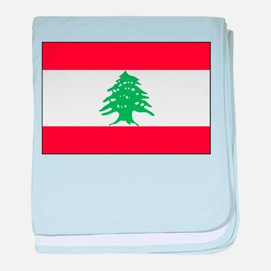 Lebanon - National Flag - Current baby blanket