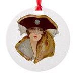 Glamour Girl - Beatrice Round Ornament