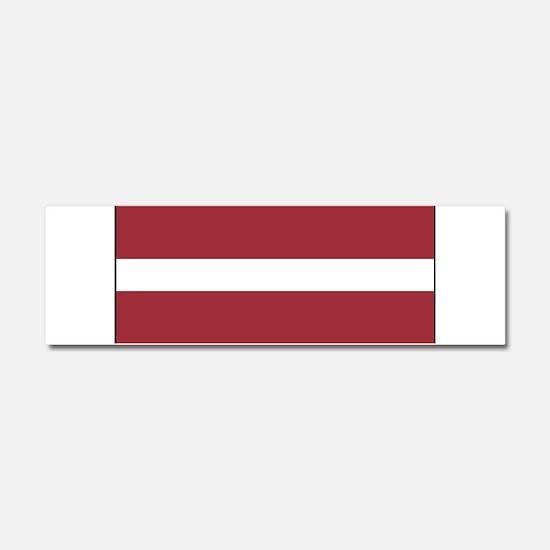 Latvia - National Flag - Current Car Magnet 10 x 3