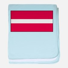 Latvia - National Flag - Current baby blanket