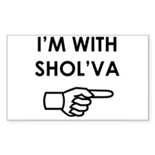 I'm with Shol'va Rectangle Decal