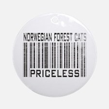 Norwegian Forest Cats Priceless Ornament (Round)