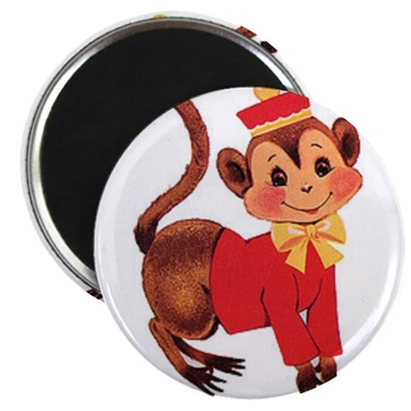 """Circus Monkey 2.25"""" Magnet (100 pack)"""