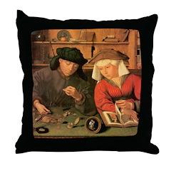 The Moneylenders Throw Pillow