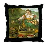 The Fruitseller Throw Pillow