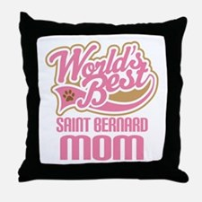 Saint Bernard Mom Throw Pillow