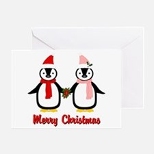 Merry Penguins Greeting Card