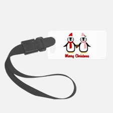 Merry Penguins Luggage Tag