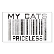 My Cats Priceless Rectangle Decal