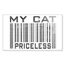 My Cat Priceless Rectangle Decal