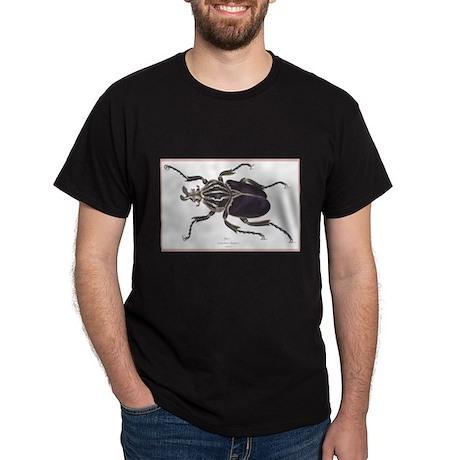 Goliath Beetle (Front) Black T-Shirt