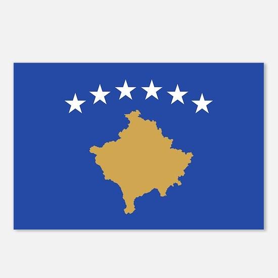Kosovo - National Flag - Current Postcards (Packag