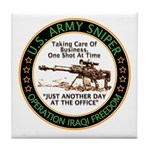 Army Sniper Custom Logo Tile Coaster