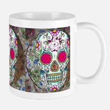 Tea Cup Sugar Skull Mug