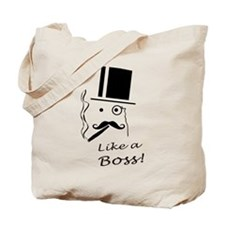 Moustache like a boss Tote Bag