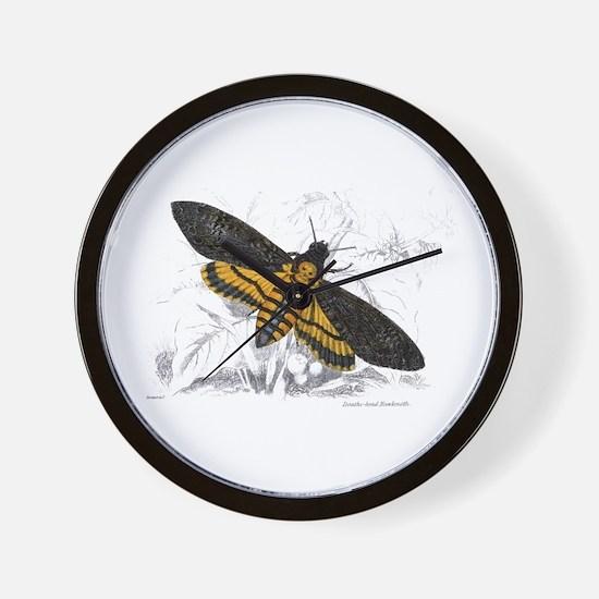 Deaths-head Hawkmoth Moth Wall Clock