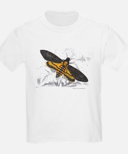 Deaths-hed Hawkmoth Moth (Front) Kids T-Shirt