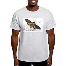 Deaths-head Hawkmoth Moth Ash Grey T-Shirt