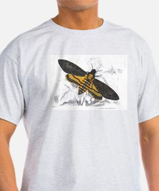Deaths-hed Hawkmoth Moth (Front) Ash Grey T-Shirt
