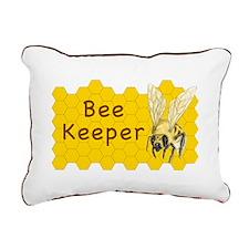 Bee Keeper ~ Rectangular Canvas Pillow