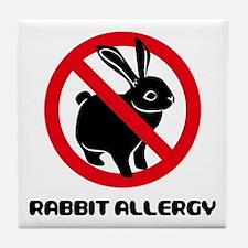 Rabbit Allergy Tile Coaster