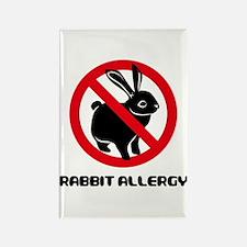 Rabbit Allergy Rectangle Magnet