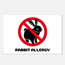 Rabbit Allergy Postcards (Package of 8)