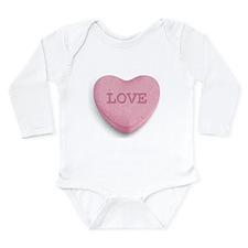 Candy Heart Long Sleeve Infant Bodysuit