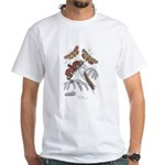 Moth Insects (Front) White T-Shirt