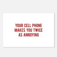 Your Cell Phone Makes You Twice As Annoying Postca