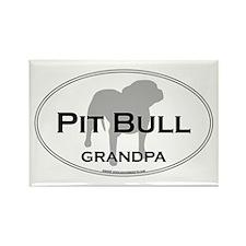 Pit Bull GRANDPA Rectangle Magnet