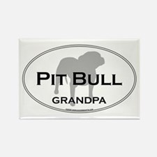 Pit Bull GRANDPA Rectangle Magnet