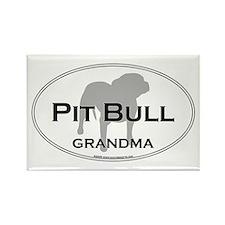 Pit Bull GRANDMA Rectangle Magnet