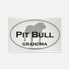 Pit Bull GRANDMA Rectangle Magnet