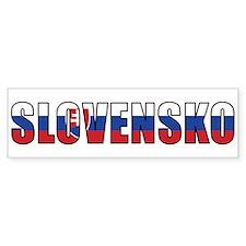 Slovakia Bumper Car Sticker