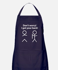 Don't worry! I got your back! Apron (dark)