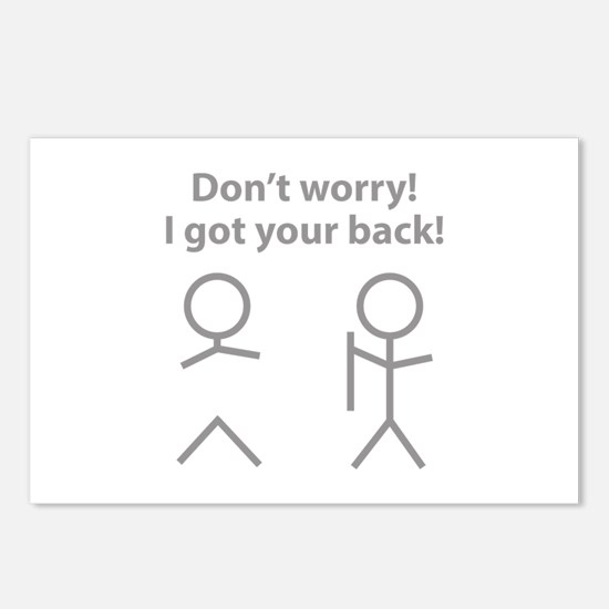 Don't worry! I got your back! Postcards (Package o