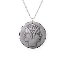 Ancient Coin Showing Janus Necklace