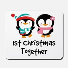 1st Christmas Together Penguin Mousepad
