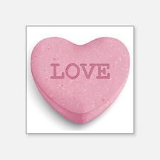 """Cute Candy heart Square Sticker 3"""" x 3"""""""