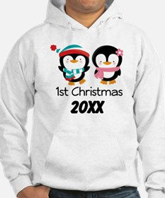 1st Christmas Personalized Penguins Hoodie