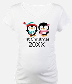1st Christmas Personalized Penguins Shirt