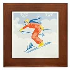 Ski Joy Framed Tile