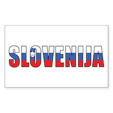 Slovenia Rectangle Decal