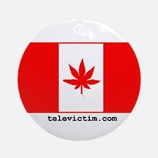 """""""Weed Canada"""" Ornament (Round)"""