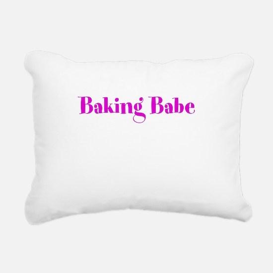 Baking Babe Rectangular Canvas Pillow